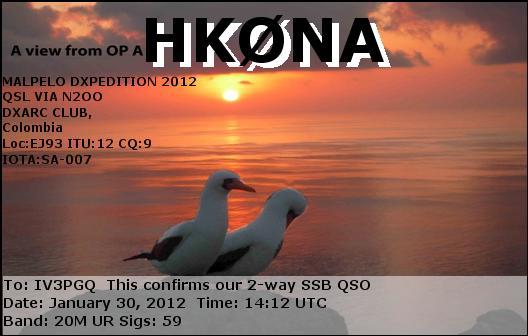 HK0NA_30012012_1412_20m_SSB