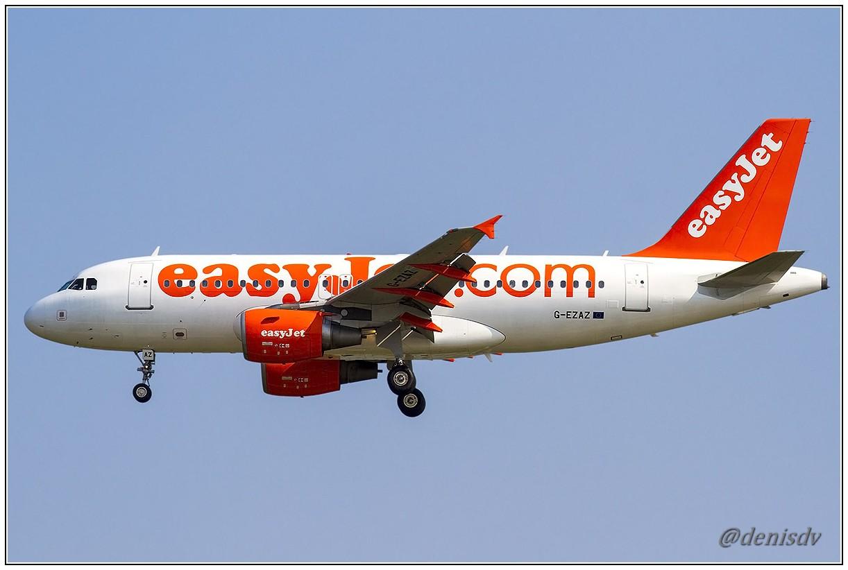 EasyJet Airline Airbus A319-111 G-EZAZ (cn 2829