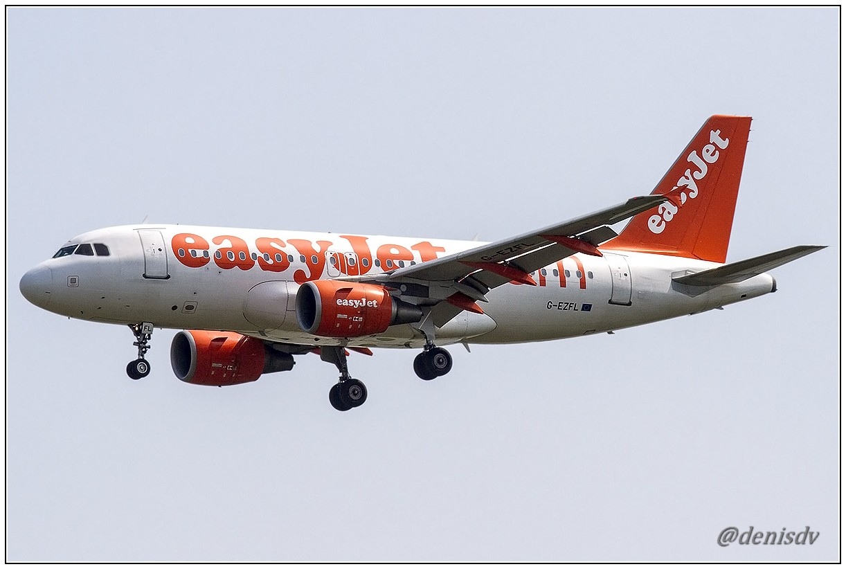 EasyJet Airline Airbus A319-111 G-EZFL (cn 4056)