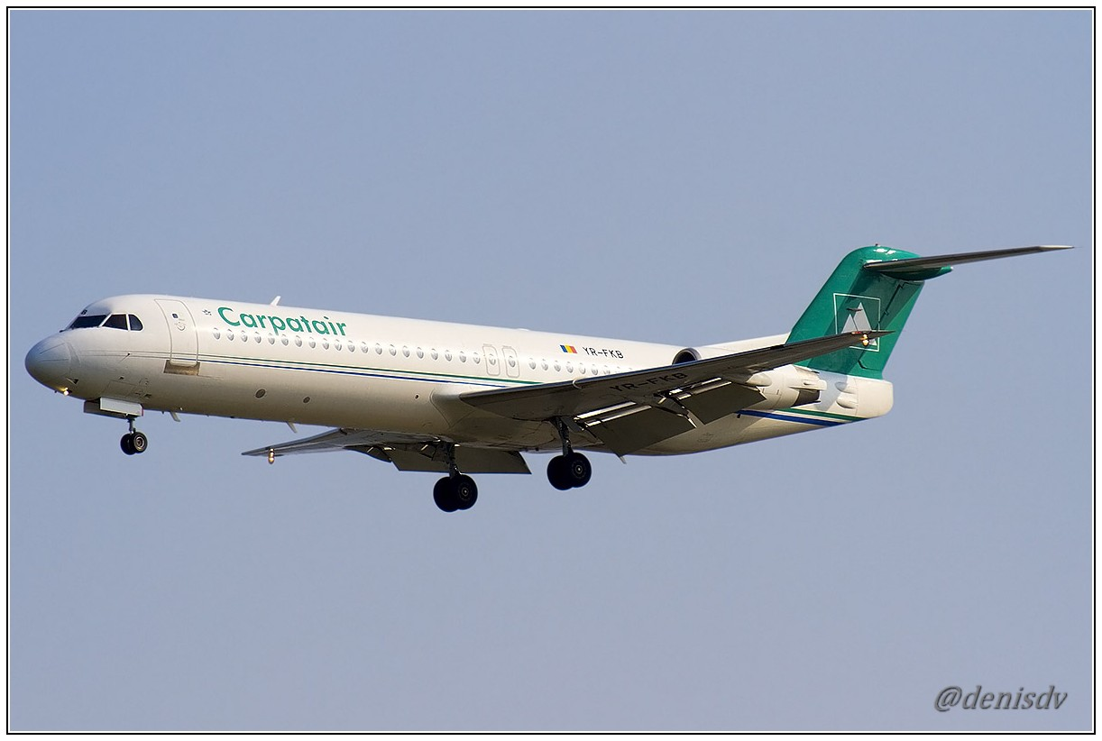 Carpatair Fokker 100 (F-28-0100) YR-FKB (cn 11369)