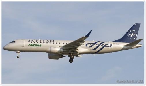 SkyTeam (Alitalia CityLiner) Embraer ERJ-190-100LR 190LR EI-RND (cn 19000512)