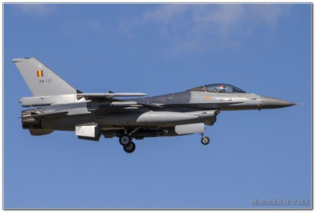 Belgium – Air Force Lockheed Martin F-16AM Fighting Falcon FA-131