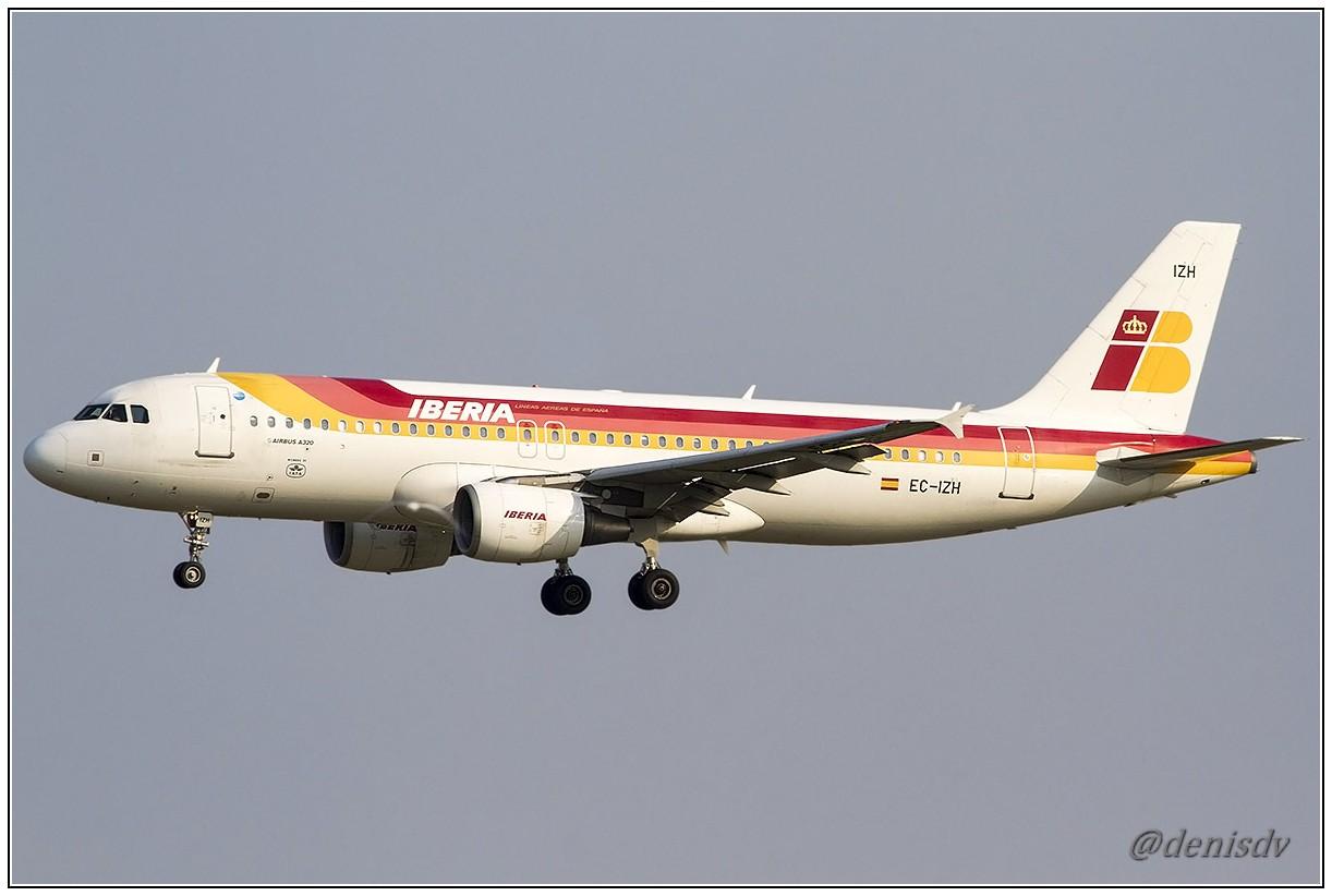 Iberia Airbus A320-214 EC-IZH (cn 2225)