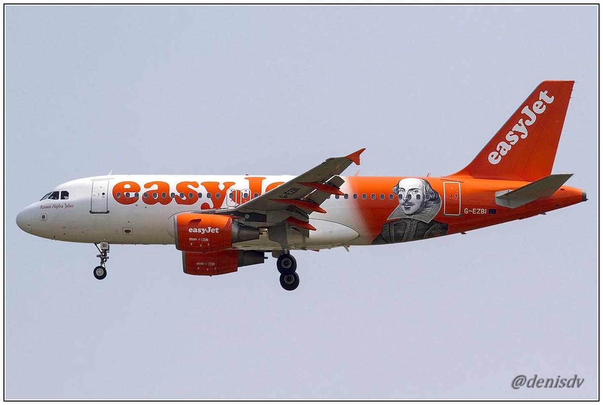 EasyJet Airline Airbus A319-111 G-EZBI (cn 3003)