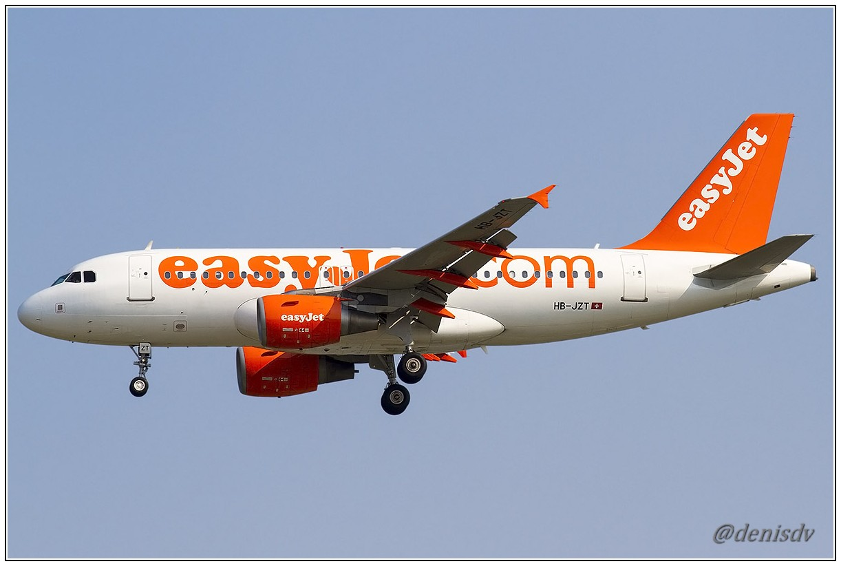 EasyJet Airline Airbus A319-111 HB-JZT (cn 2420)